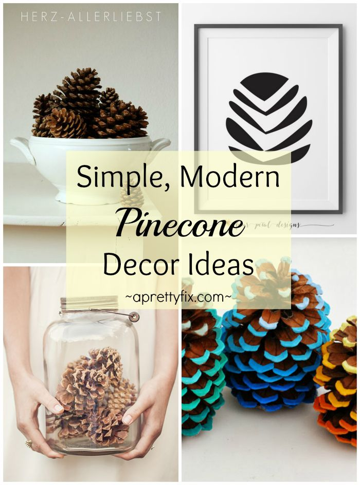 Simple Modern Pinecone Decor Ideas A Pretty Fix