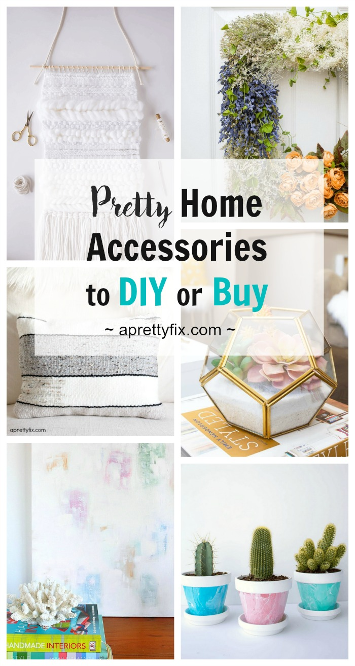 Not sure what to DIY or what to buy when it comes to home decor? See this blogger's favourite pretty home accessories from terrariums to wall weavings, coastal art to macrame that you can DIY (and where you can buy them instead). It's the best of both worlds! | DIY | Crafts |