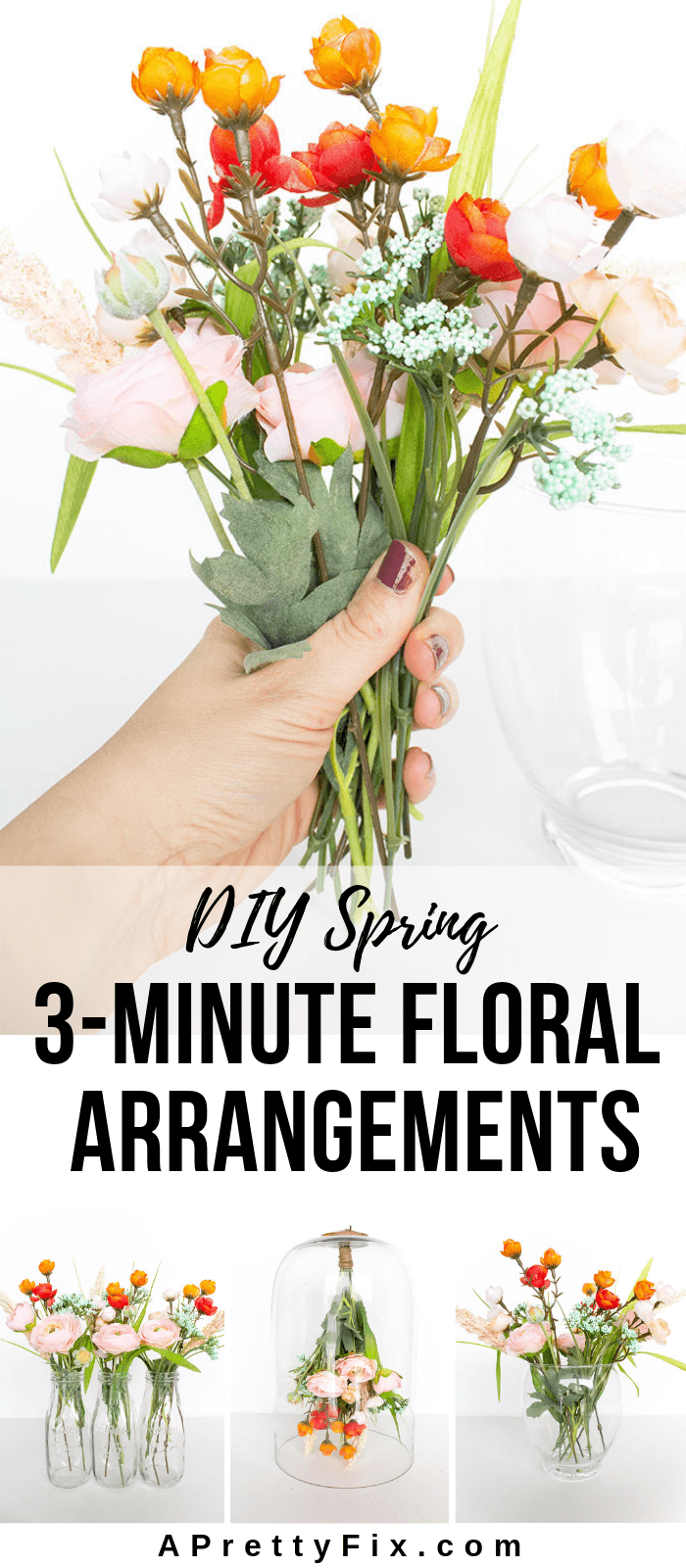 Simple Spring Flower Arrangement 3 Different Ways A Pretty Fix