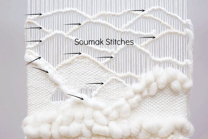 DIY soumak stitch tutorial | DIY wavy weaving techniques