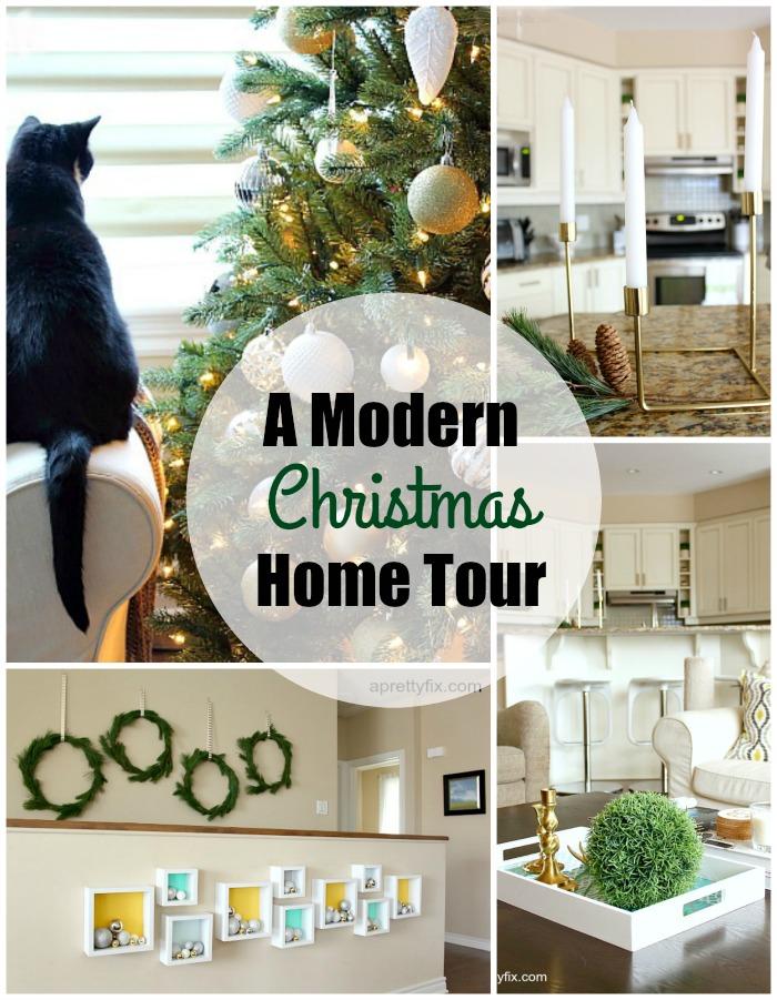 Christmas Home Tour - Tour a DIY and craft blogger's home at aprettyfix.com