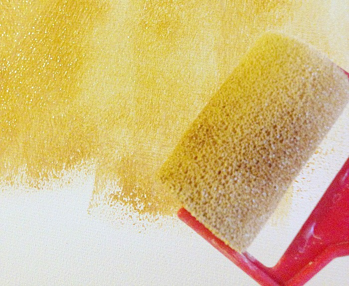 How to create whitewash abstract art - apply raw sienna