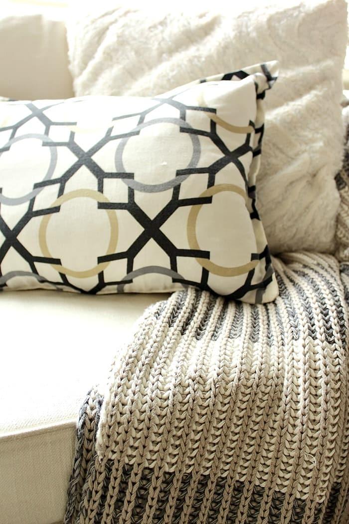3 Steps to Styling a Sofa // aprettyfix.com