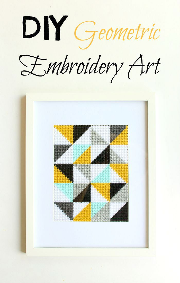 Diy Geometric Embroidery Art A Pretty Fix