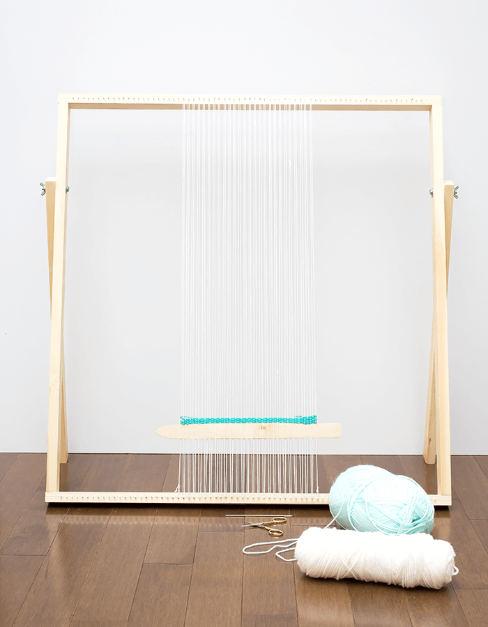 How To Make a Standing Loom With Adjustable Legs. This simple, straightforward DIY loom tutorial is intended to get you weaving in no time.