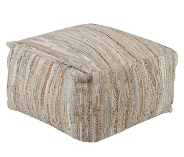 Dream Living Room - Reina Pouf in beige // www.arhaus.com