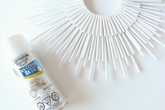 diy sunburst - spray paint