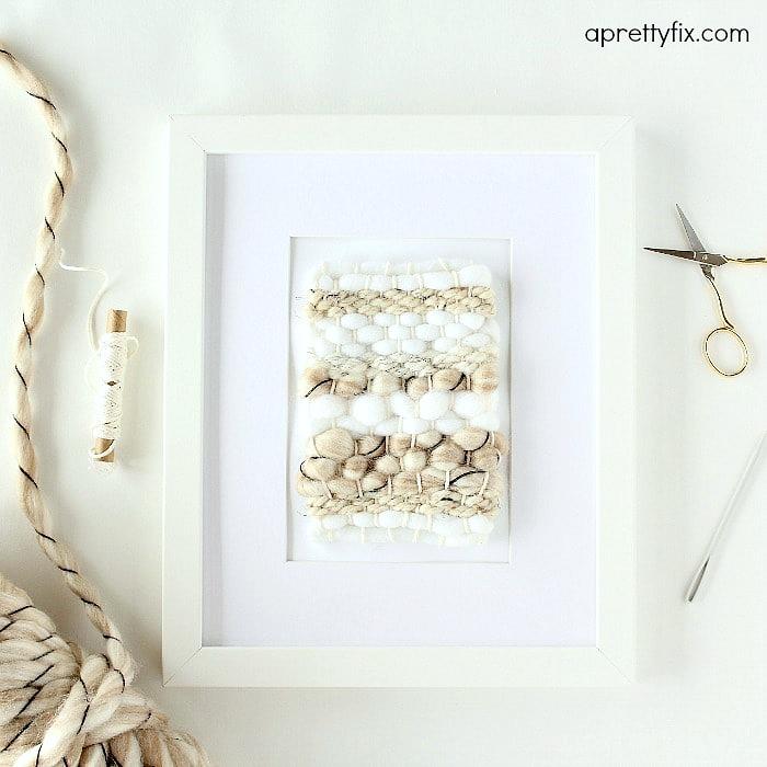 DIY Mini Framed Weaving - A Pretty Fix