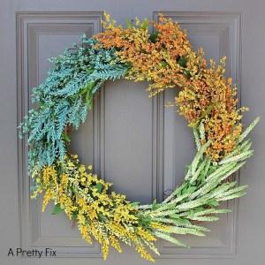 Faux Wildflower Wreath DIY