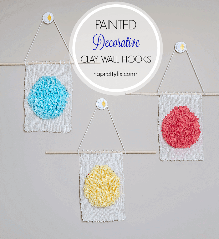 create these super cute painted decorative wall hooks use them to hang treasured objects