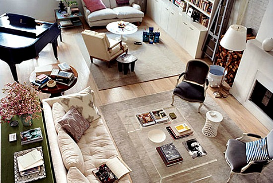 Living Room Layout   Two Conversation Zones