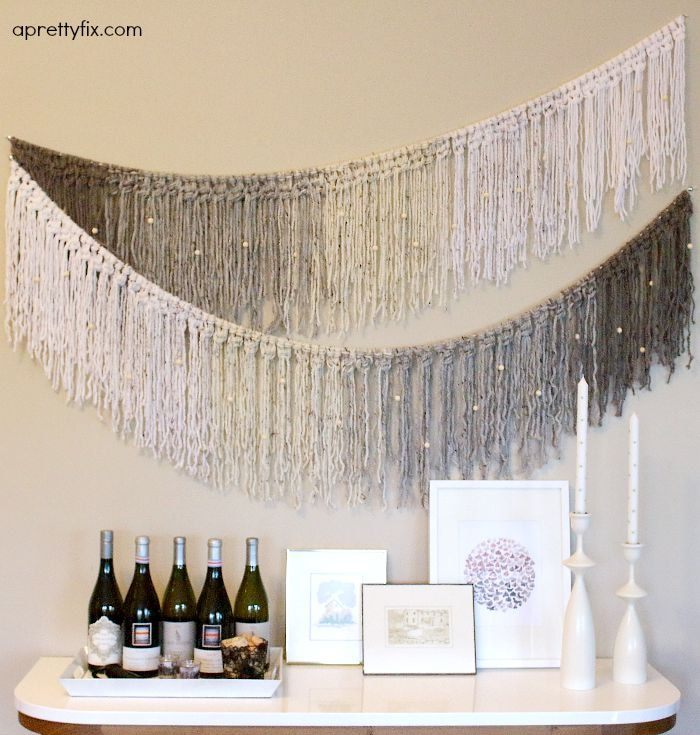 Make or buy a yarn garland? Lots to choose from online.