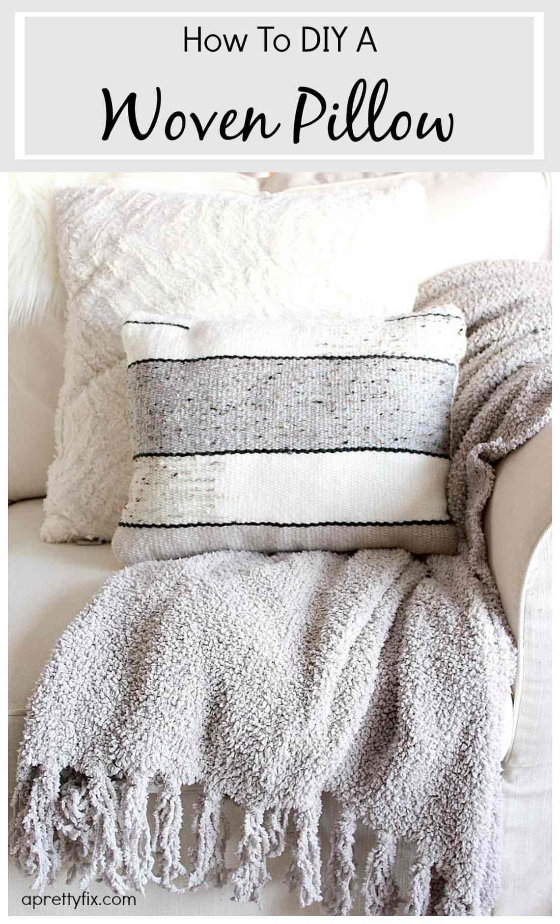 How To Diy A Woven Pillow A Pretty Fix