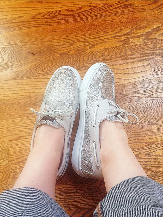 Sparkly shoes.