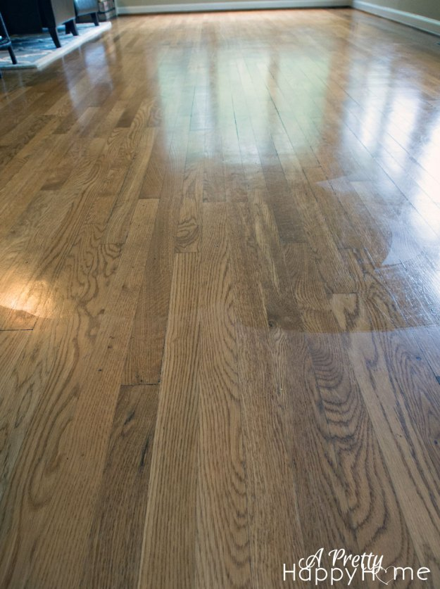 Shine up your wood floors without refinishing a pretty for Hardwood floors dull after cleaning