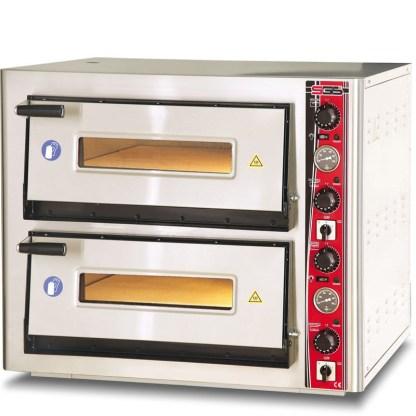 Печь электрическая для пиццы SGS РО 6262 DE с термометром. Корпус печи изготовлен из высококачественной нержавеющей стали. Дно печи выложено специальными керамическими плитами. Сделать заказ на apricot.