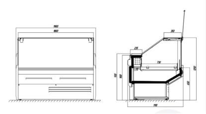 Холодильная витрина ЮКА - схема