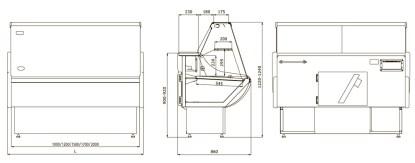 Гастрономическая витрина Россинка 1,2 для хранения продуктов. Сделать заказ на ubc.apricot.