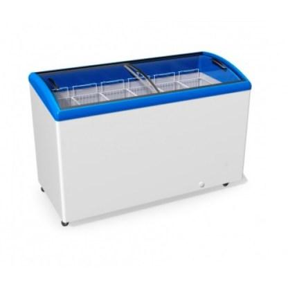 ⚠ Компактна скриня JUKA на 506 л з гнутим розпеченим склом. Використовується для зберігання заморожених продуктів. Купити ➱ apricot ☎ (044) 501-11-39