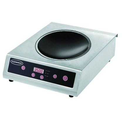 Індукційна електрична плита GASTRORAG TZ BT-350B-WOK з 1 зоною нагріву (вок) і кнопковим управлінням. Настільна. 10 рівнів потужності (500-3500 Вт), робоча температура 60-240оС. Зробити замовлення на apricot.