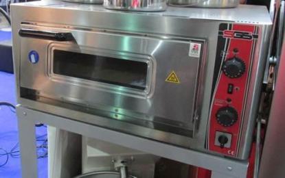 Піч електрична для піци SGS. Корпус печі виготовлений з високоякісної нержавіючої сталі. Дно печі викладено спеціальними керамічними плитами. Зробити замовлення на apricot.