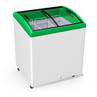 Скриня на 200 л. 3 кошика. Гнуте склом для заморожених продуктів. Ціна, характеристики. Доставка.