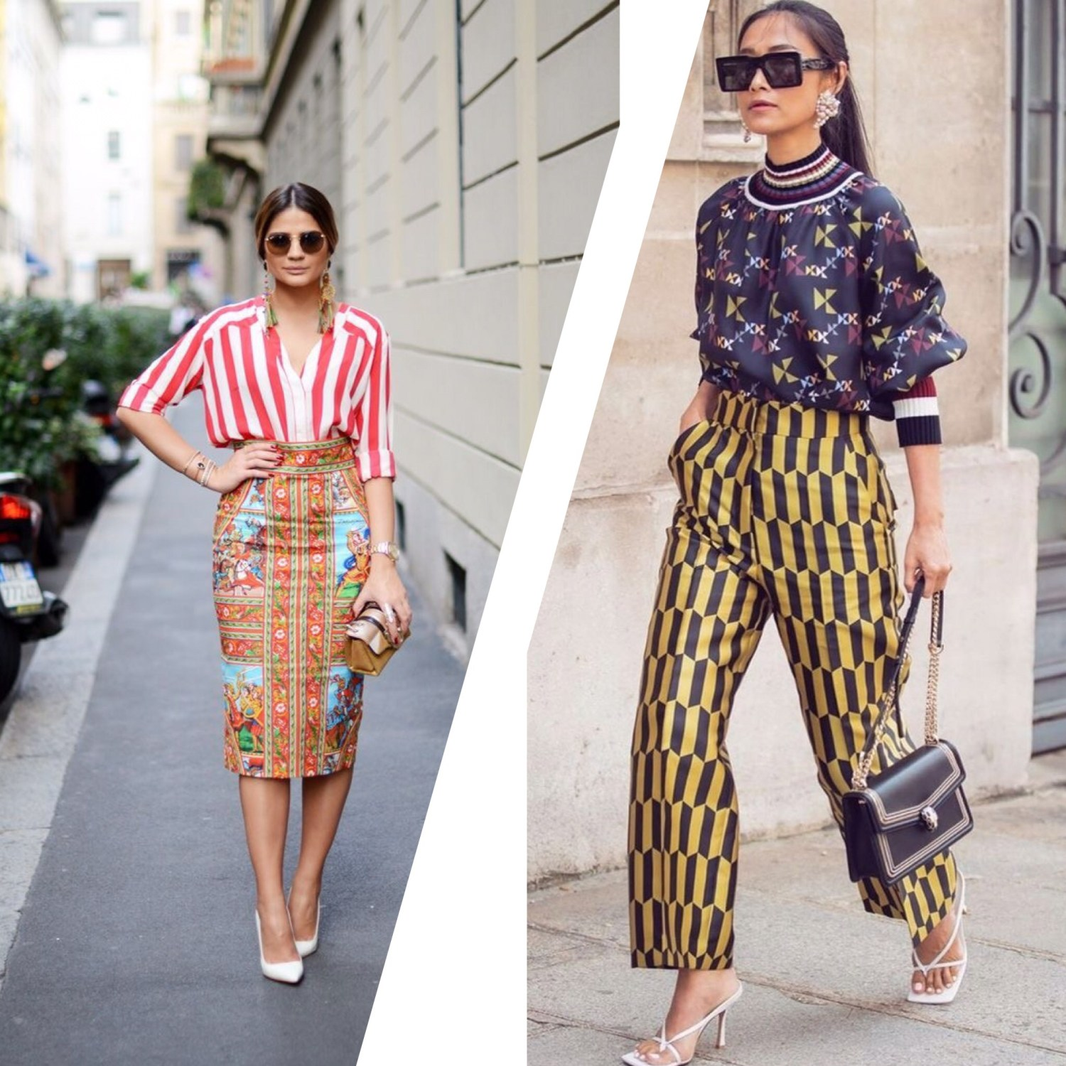 Pictures of how Ladies mix Prints and Patterns