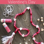 Diy Wood Bead Garland Valentine S Day April Colleen