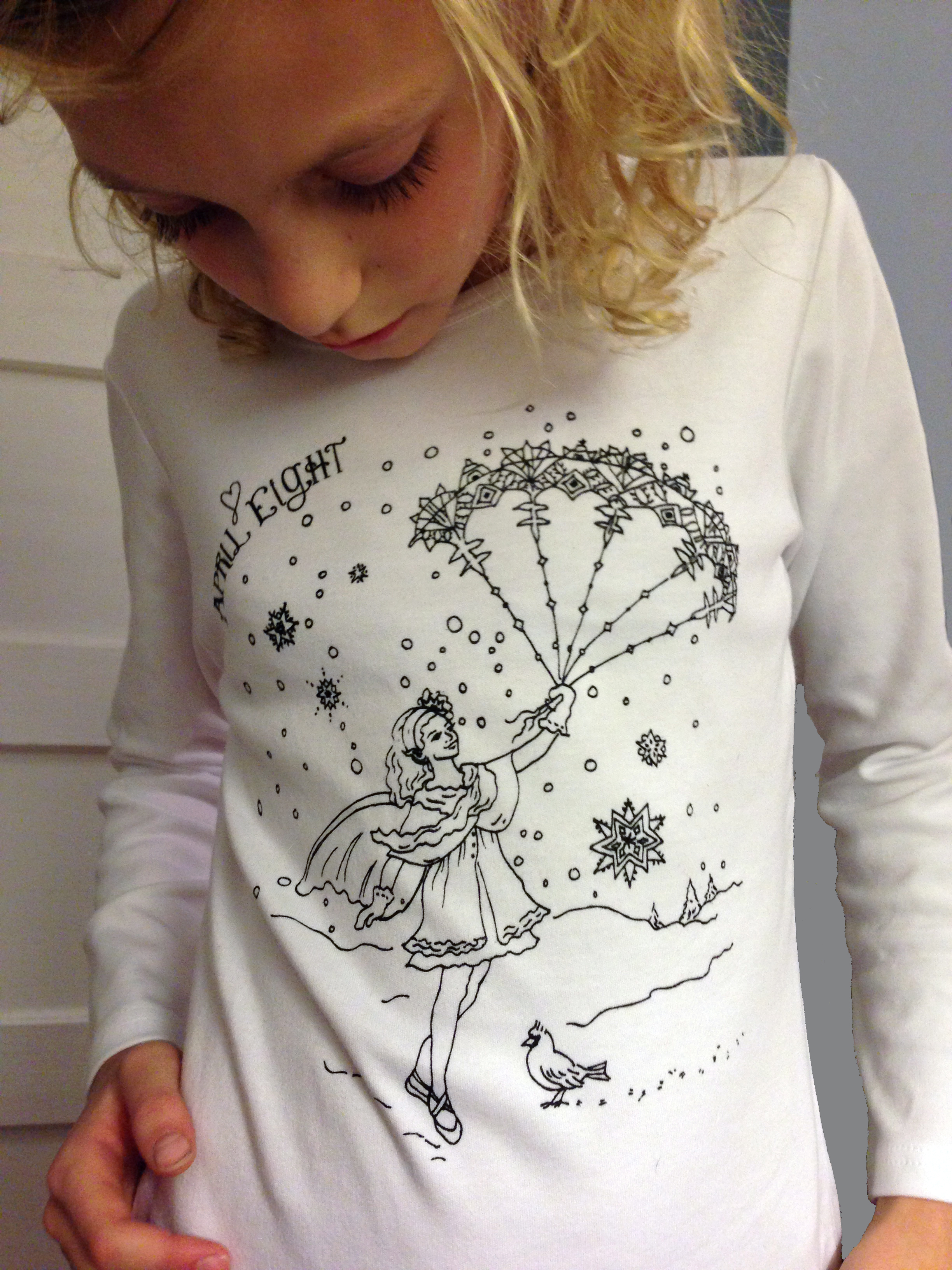 Snowflake Fairy Coloring Book T-Shirt Size 4-5