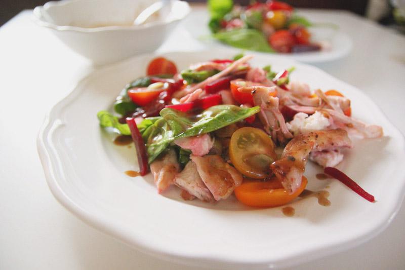 Chicken Beet & Mozarella Salad