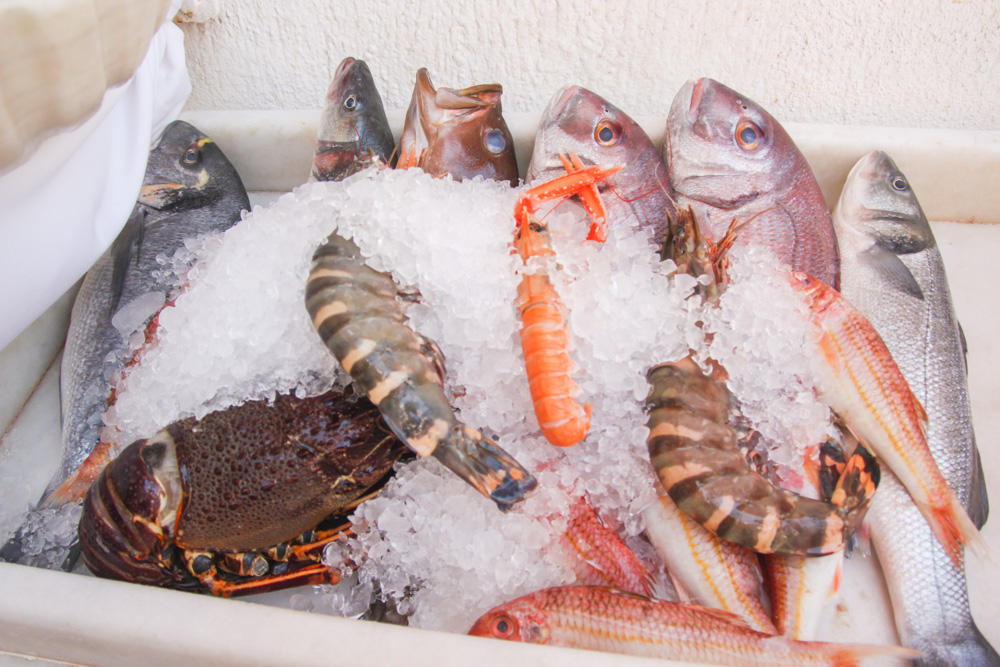 Fresh Fish in Mykonos Town, Greece