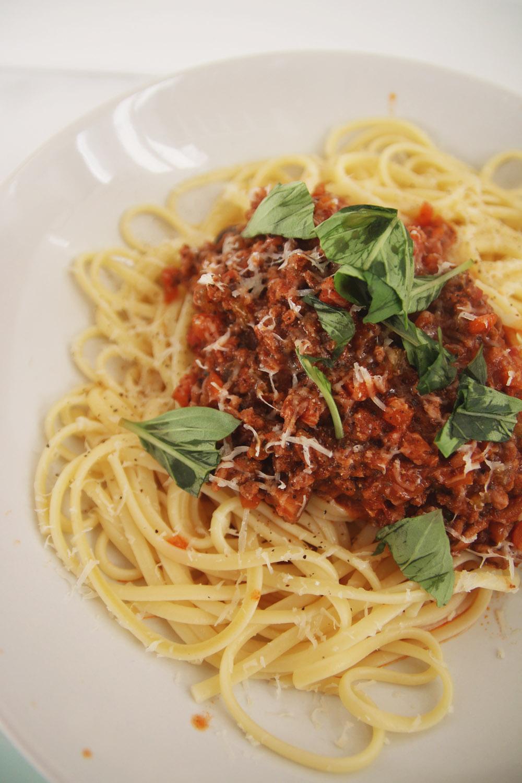 Spaghetti Bolognese with Courgetti Recipe