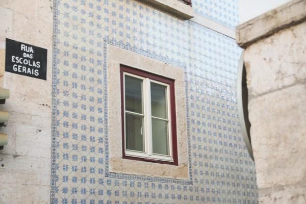 Tiled Builing in Alfama, Lisbon, Portugal
