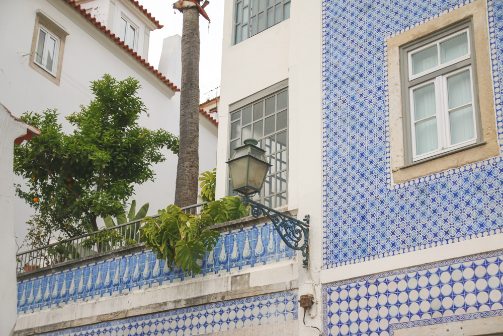 Tiled Builing in Alfama, Lisbon, Portugal