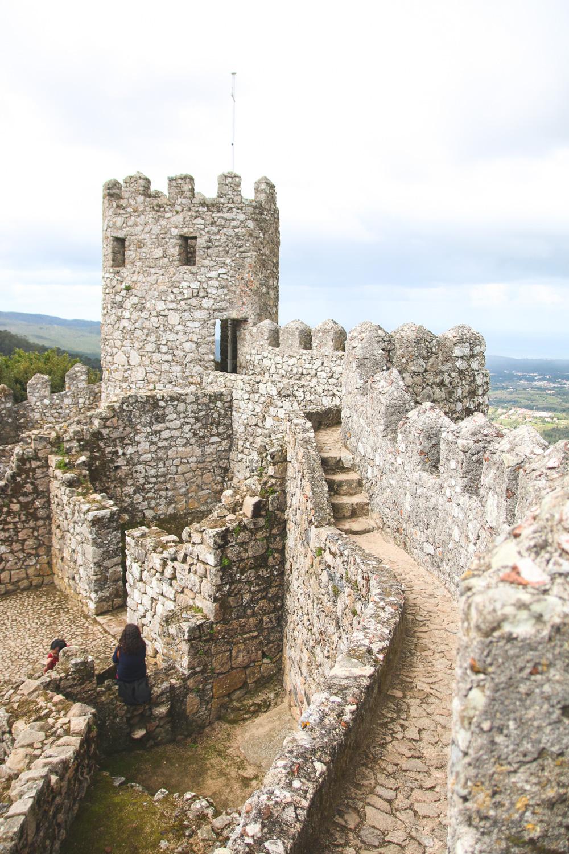 Moorish Castle Walls in Sintra, Portugal
