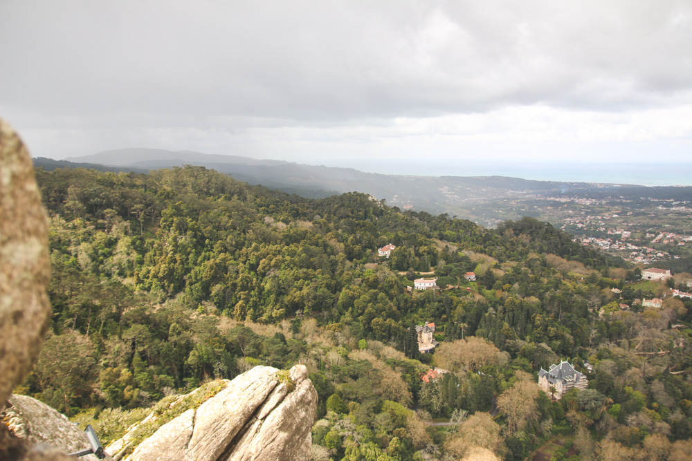 View from the Moorish Castle Walls in Sintra, Portugal