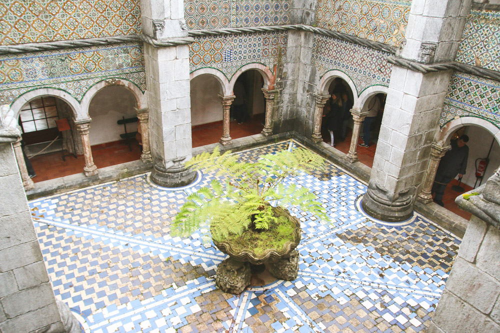 Pena Palace Courtyard, Sintra, Portugal