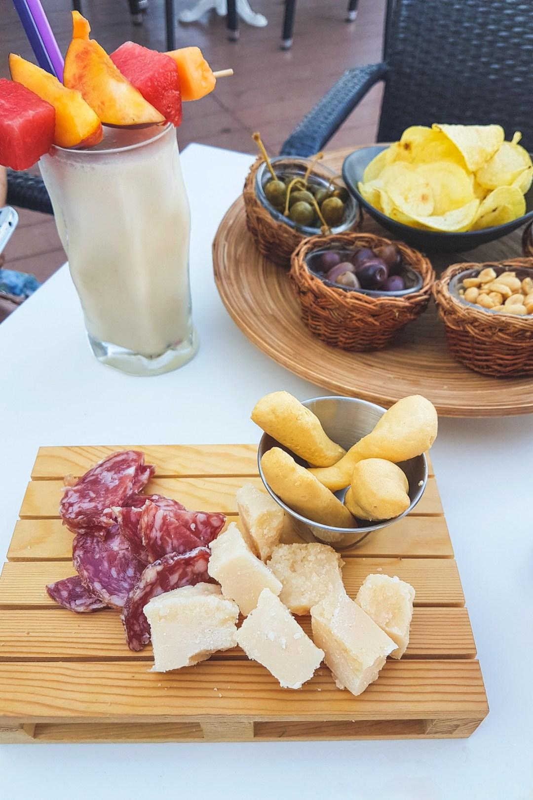 Antipasto and Cocktails at Bar Doria in Portovenere, Cinque Terre, Liguria, Italy