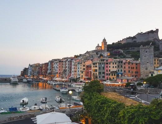 Portovenere at Sunset, Cinque Terre, Liguria, Italy