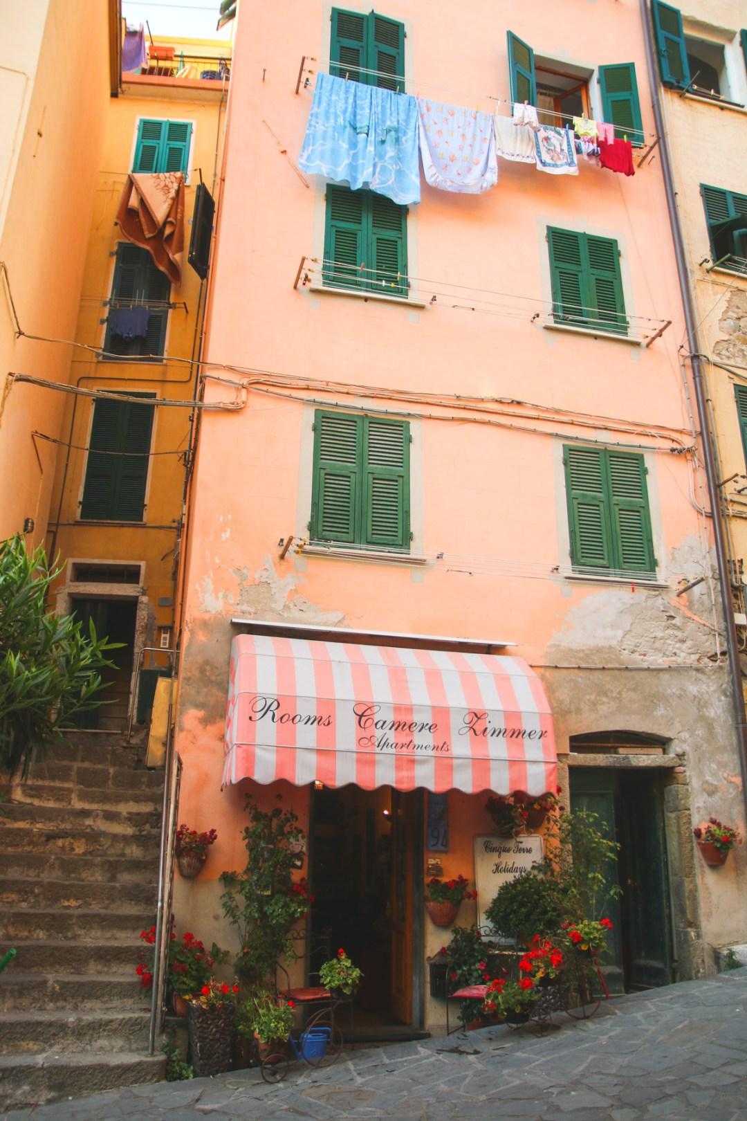 The Colourful Buildings of Riomaggiore in Cinque Terre, Ligurai Region, Italy