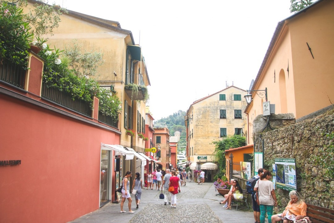 The Streets of Portofino, Liguria, Italy