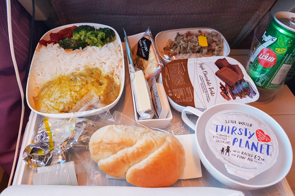 Emirates Airline Economy Class Review inflight food