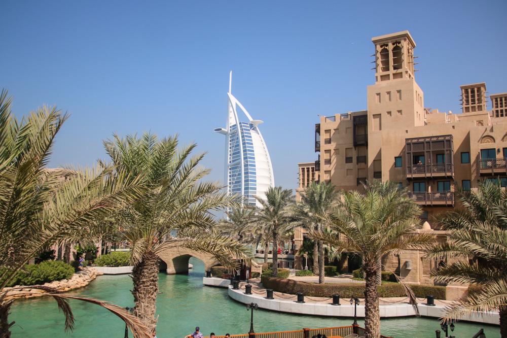 View of the Burj Khalifa from Souk Madinat, Dubai
