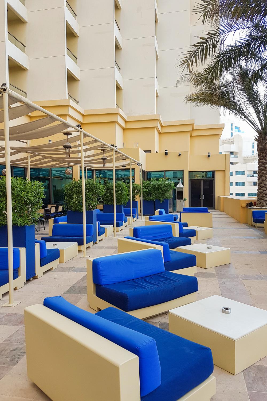 JA Ocean View Hotel Pool Area Dubai Marina