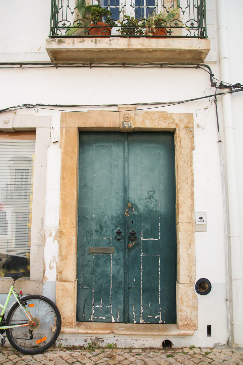 Old Doors in Tavira, The Algarve in Portugal