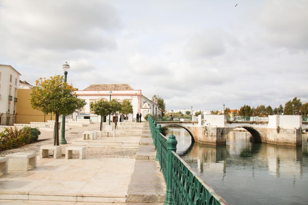 Roman Bridge in Tavira, Portugal