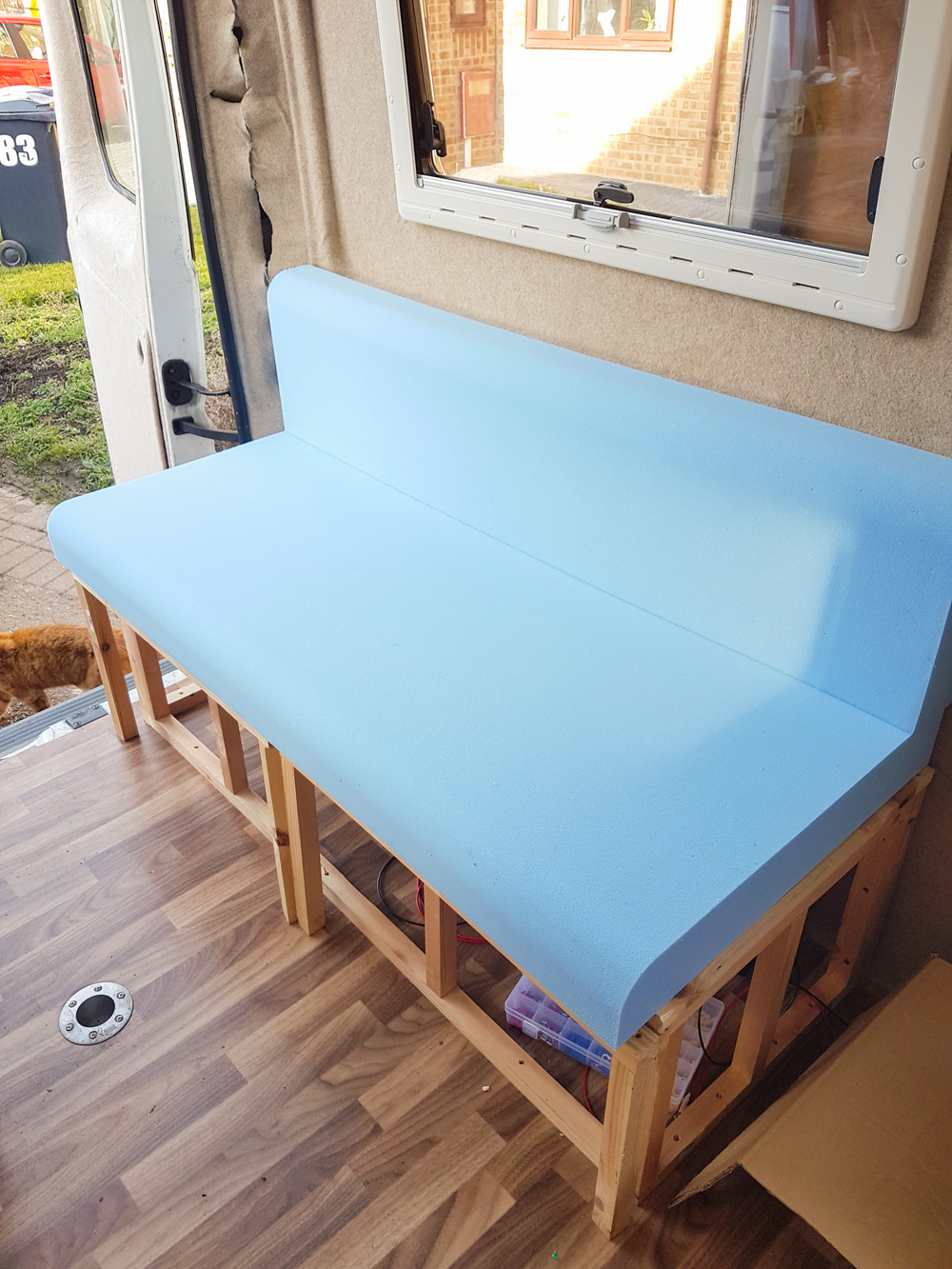 Campervan Conversion Bed Sofa Area