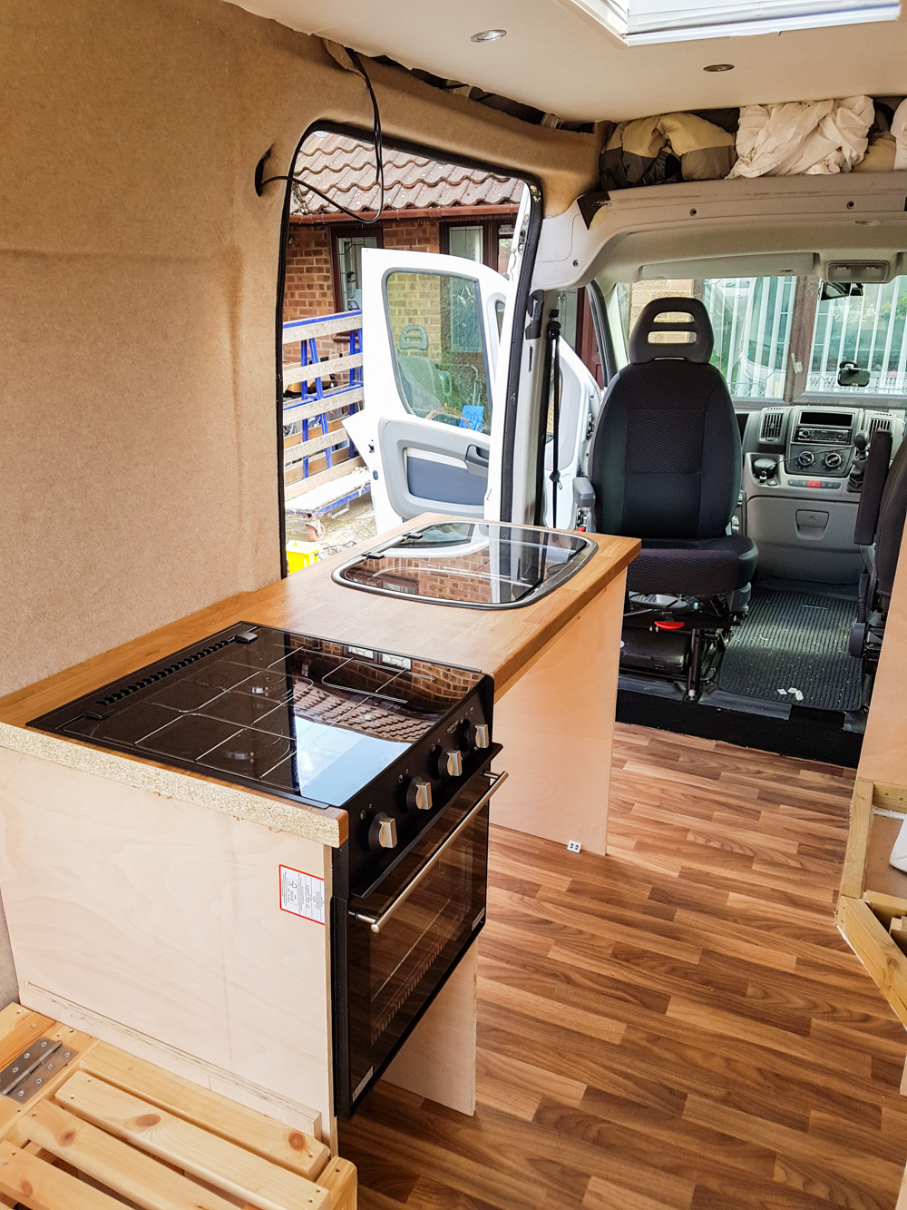 Campervan Conversion Fitting the Kitchen Appliances