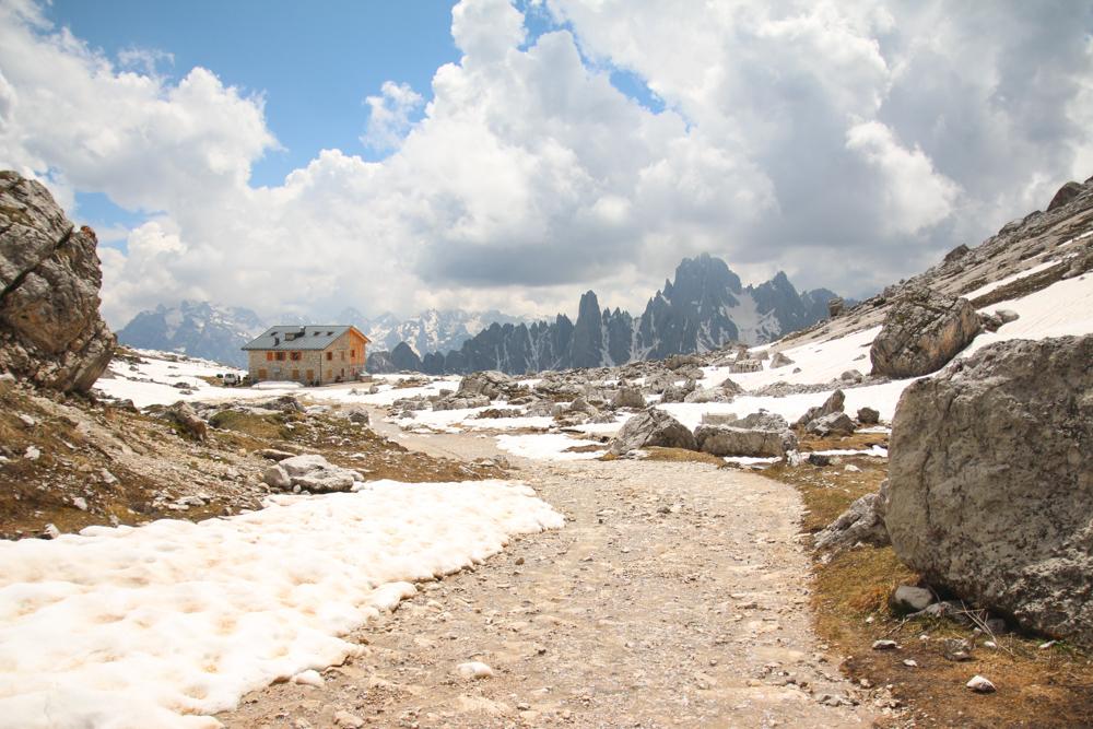 Rifugio Lavaredo at Tre Cime Di Lavaredo in The Dolomites