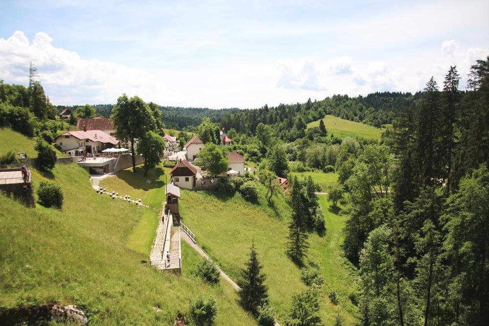 View from Predjama Castle